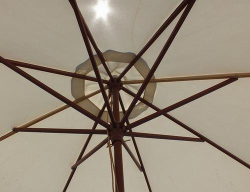 傘ごしに溢れる日差しの画像