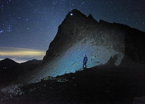 北ルプスの夜空の画像